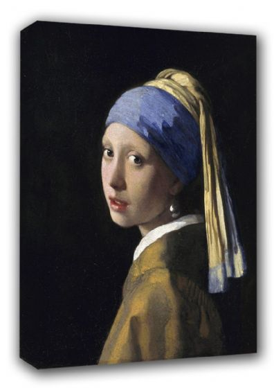 Vermeer, Johannes: The Girl with a Pearl Earring. Fine Art Canvas. Sizes: A3/A2/A1 (00591)